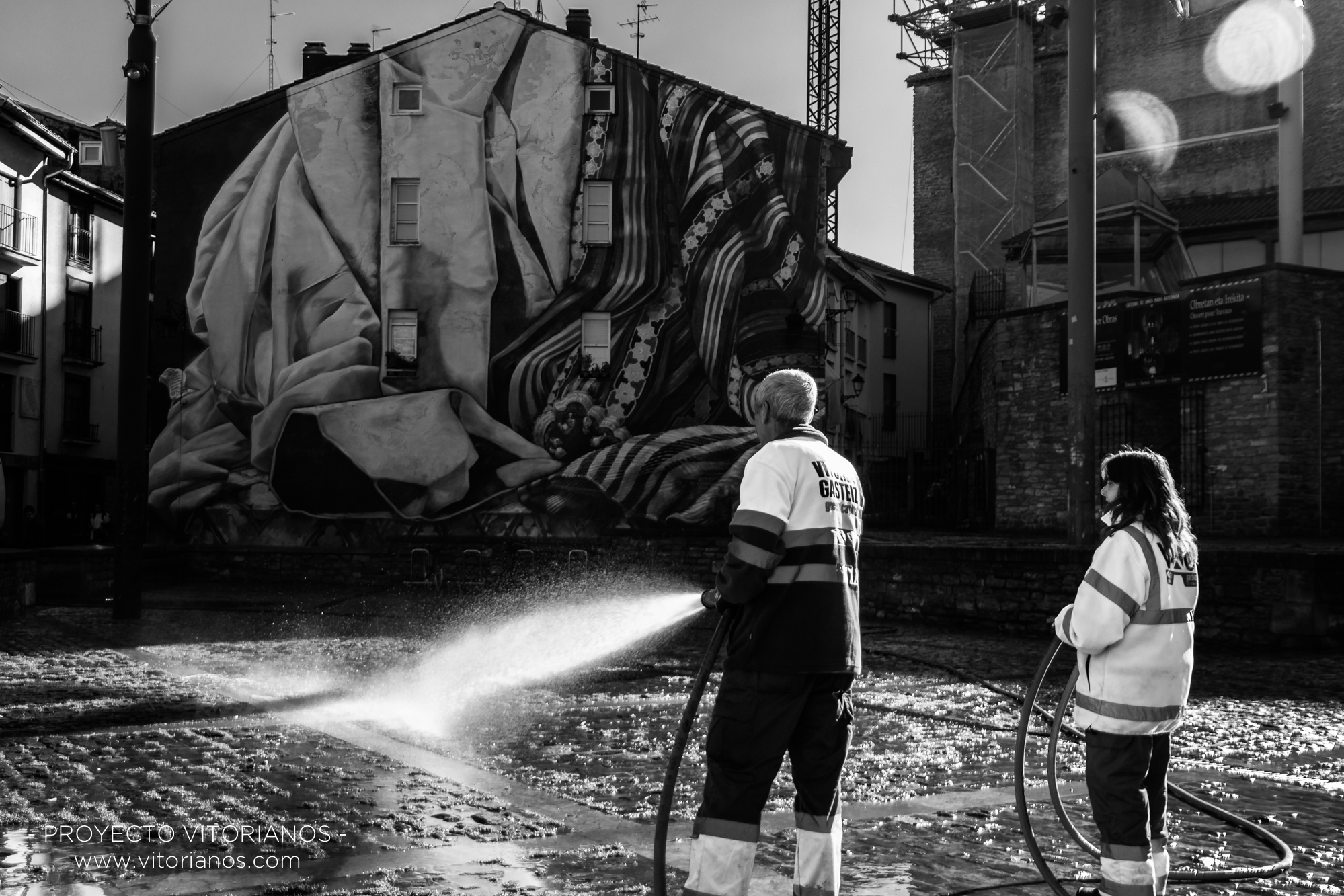 Profesionales de limpieza - Foto: Toñi Pérez