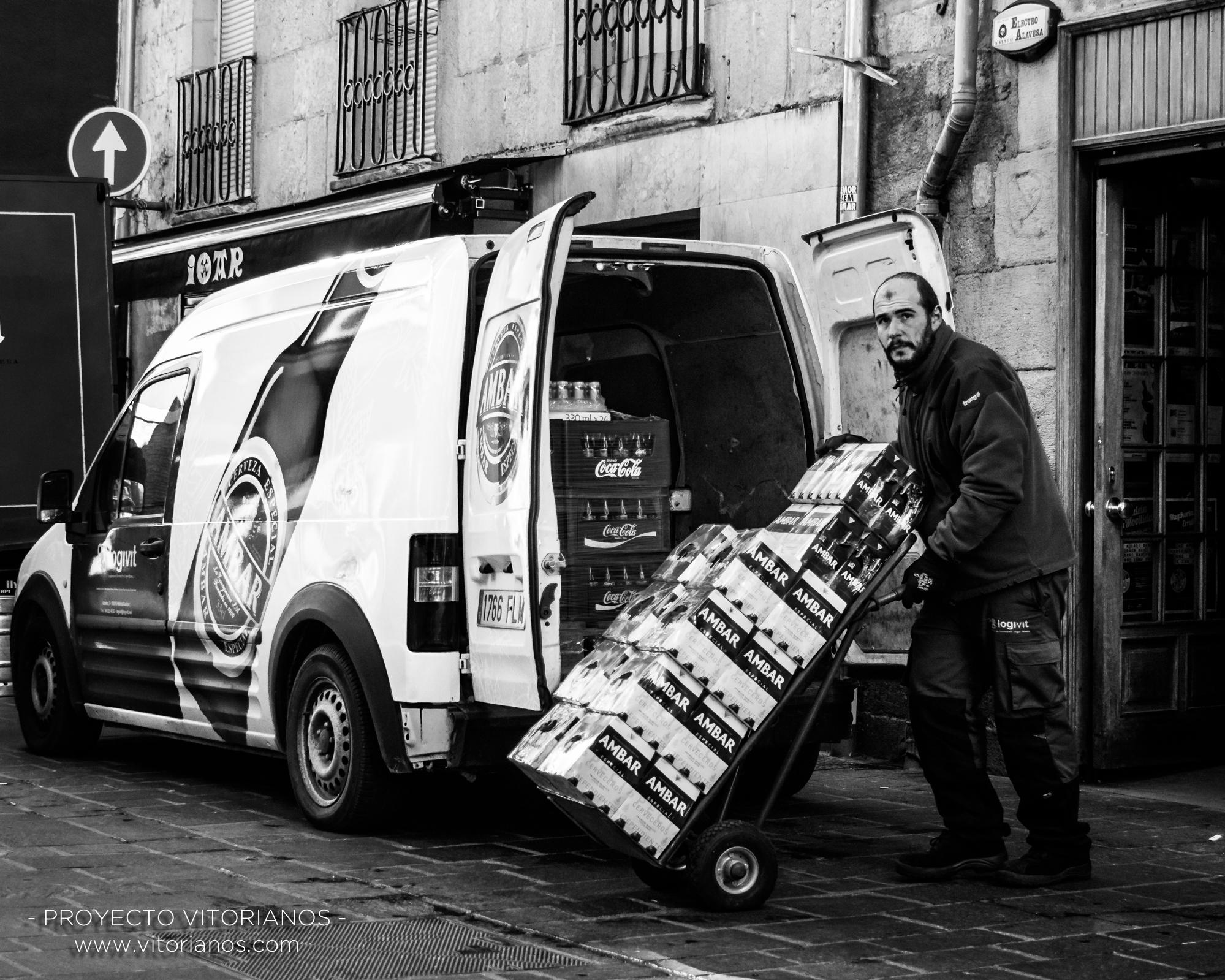 Repartidor de bebidas - Foto: José Antonio Eguiara