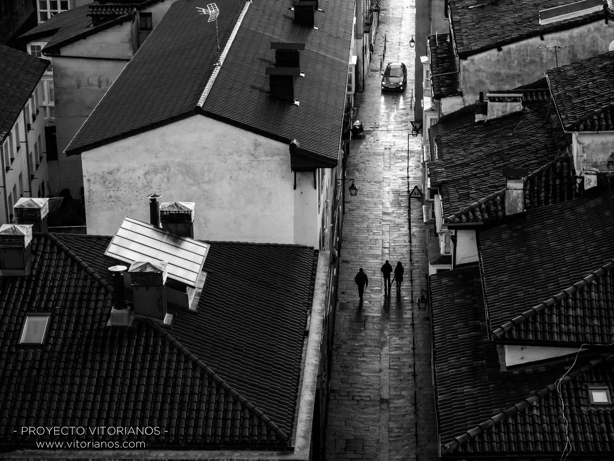 Vista de la calle  Santa María - Foto Adolfo Carrero
