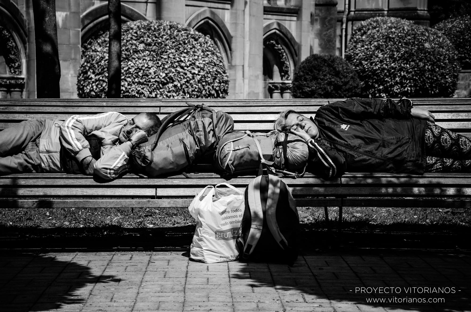 Vitorianos durmiendo - Foto: José Luis Zúñiga