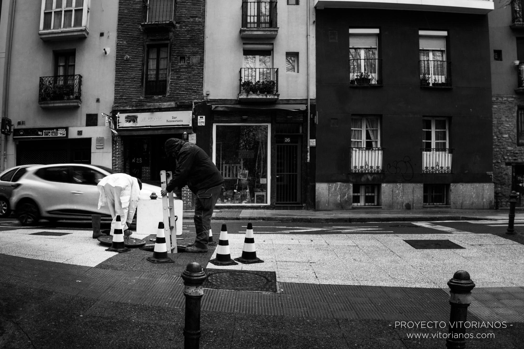 Profesionales de limpieza - Foto: Manu Moreno