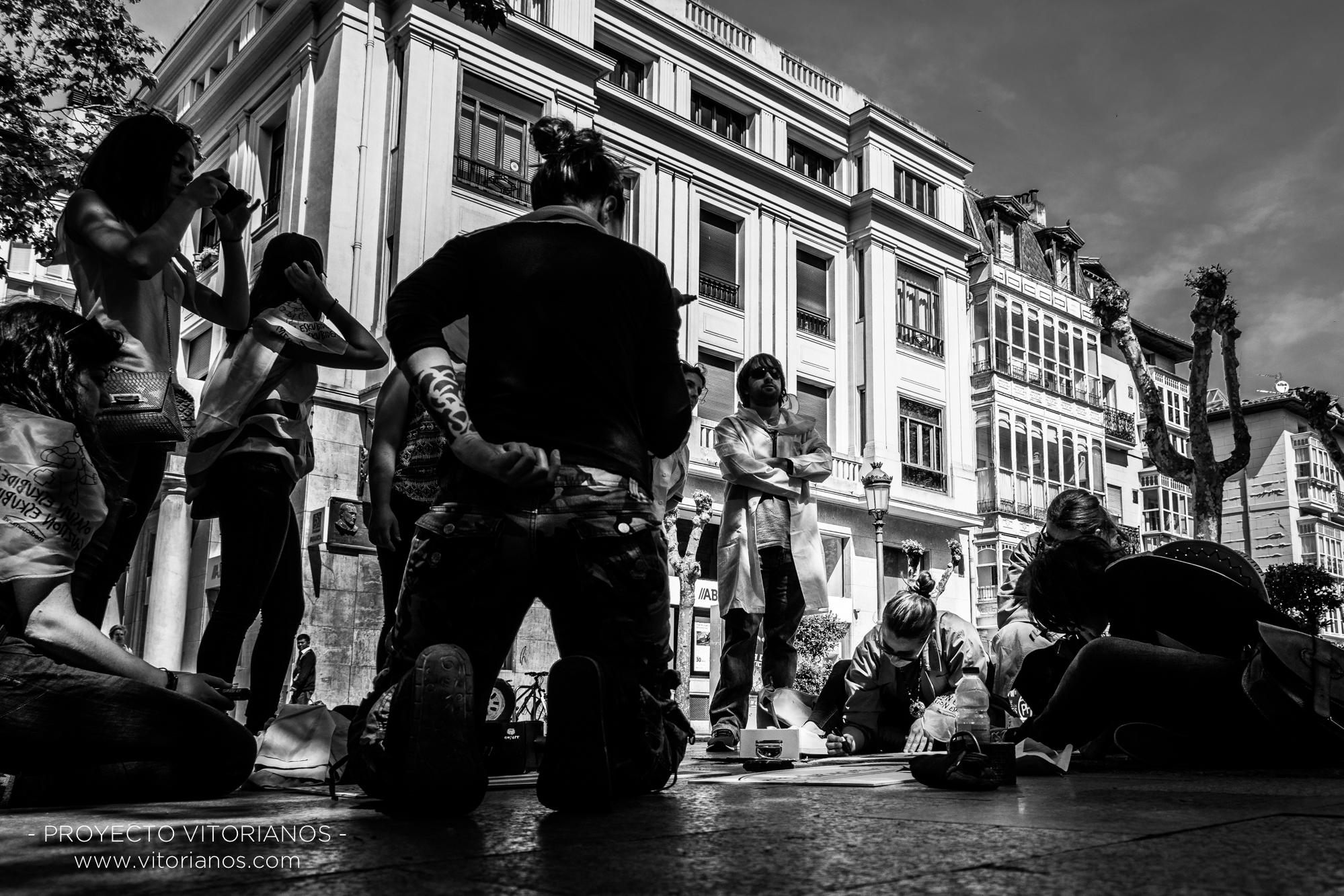 Vitorianos en la calle Postas - Foto: Virginia Cubillo