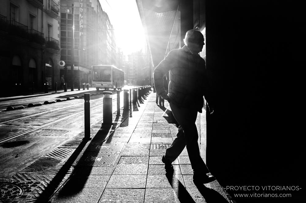 Vitoriano en la calle General Álava - Foto: Gustavo Bravo