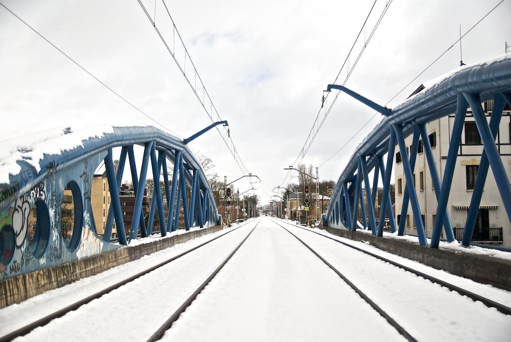 Nieva en Vitoria