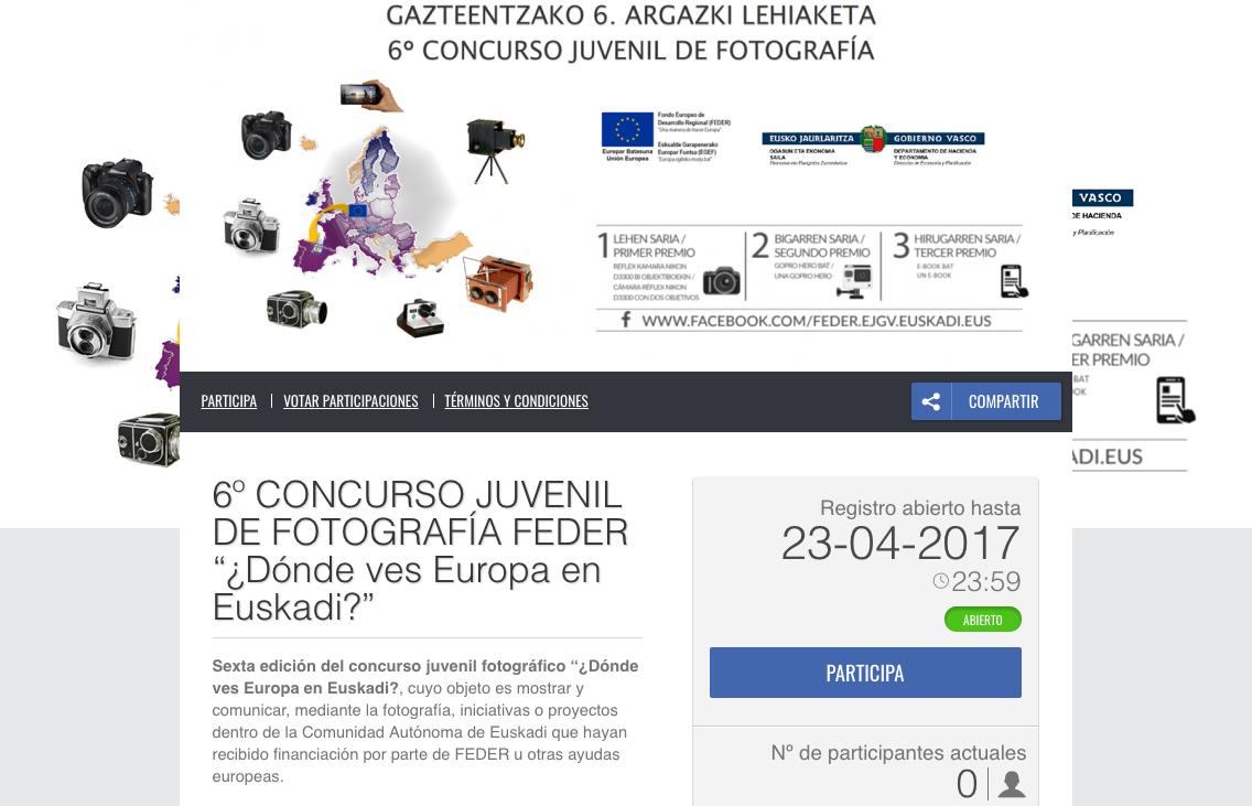 Concurso juvenil de fotografía '¿Dónde ves Europa en Euskadi?, hasta el 23 de abril