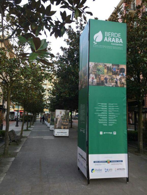 'BerdeAraba Kontzientzia', en el paseo peatonal del monumento Guk en Amurrio del 21 al 31 de marzo