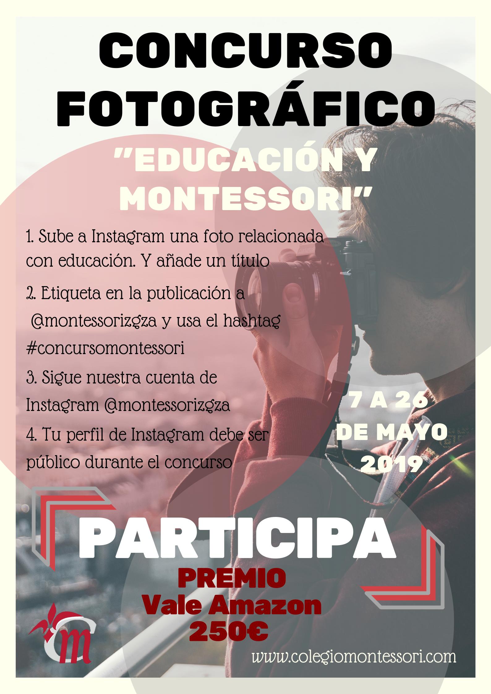Concurso de fotos de educación Montessori, hasta el 26 de mayo de 2019